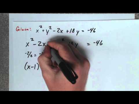 Given the expanded equation of a circle find the radius and center.