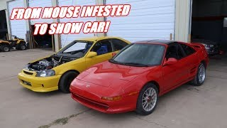 Download $400 Mr2 Is Back From Paint and It Looks SO GOOD! Video