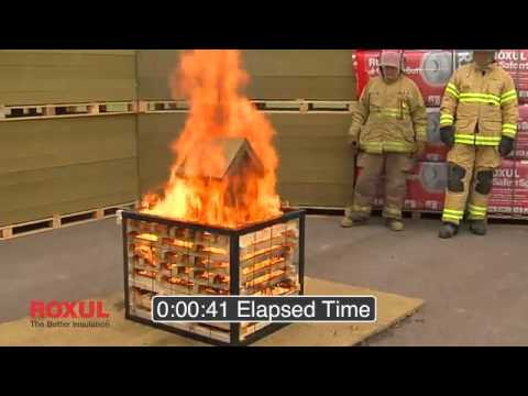 ROXUL Insulation Fire Resistance Demo