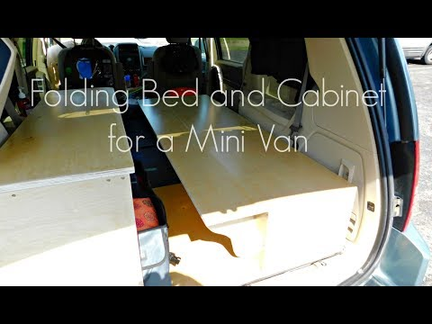 Building a Folding Bed & Cabinet for a Mini Van   Izzy Swan