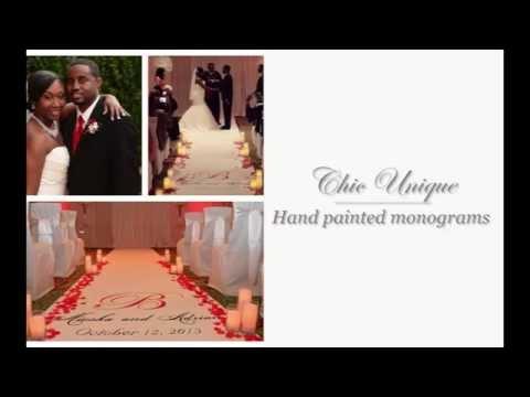 Chic Unique Custom Wedding Aisle Runners