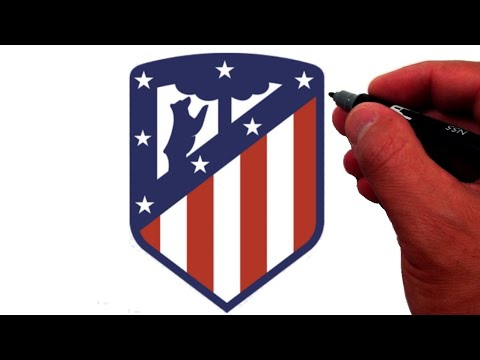 How to Draw the Atlético Madrid Logo