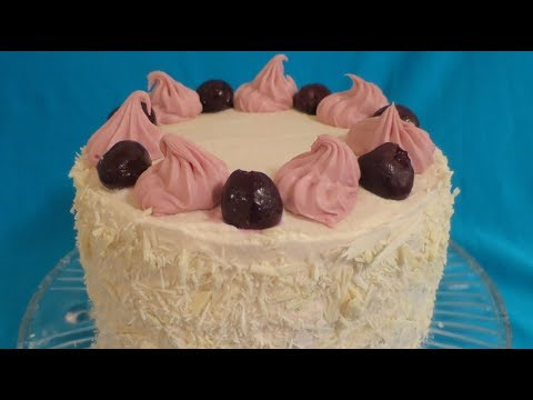 White Forest Cherry Cake