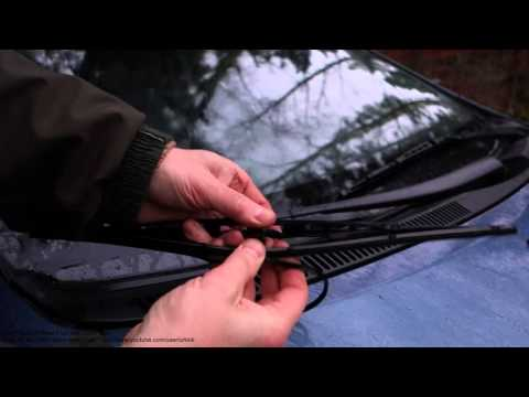 How to replace windshield wiper blades Toyota Prius. Years 2002 to 2010