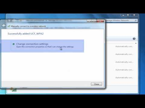 Setting Up a Wireless Connection:  Windows 7