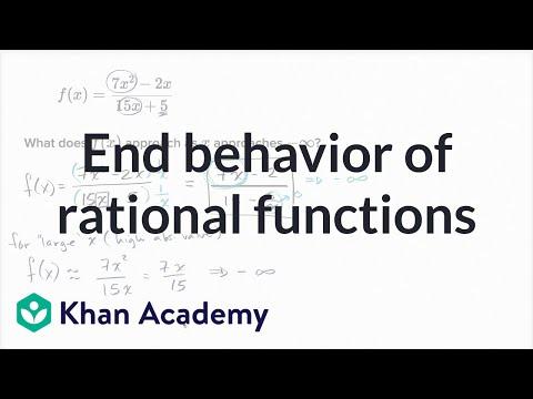 End behavior of rational functions | Mathematics III | High School Math | Khan Academy