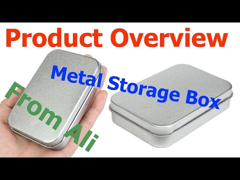 Opening package from Aliexpress (Metal Storage Box)