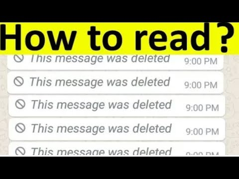 how to read whatsup deleted massage | whatsup this massage was deleted