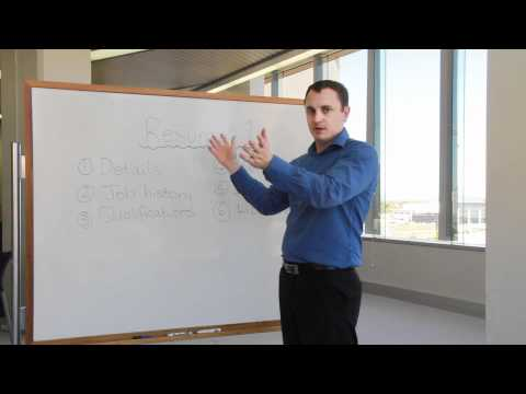 Careers - Writing a resume from the Certificate III in Education Support.mp4