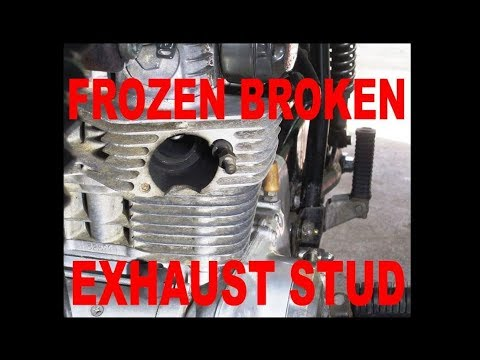 Remove a Frozen Broken Exhaust Stud on a motorcycle