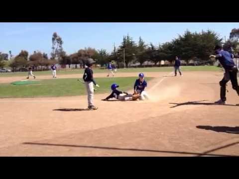 Aaron scoring baseball