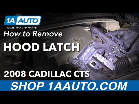 How to Remove Replace Hood Latch 2008 Cadillac CTS