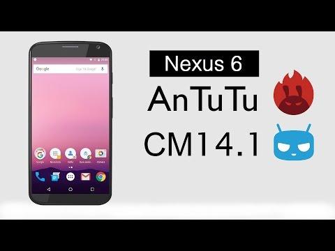Google Nexus 6 CyanogenMod 14.1 Android Nougat 7.1.1 AnTuTu Benchmark Test