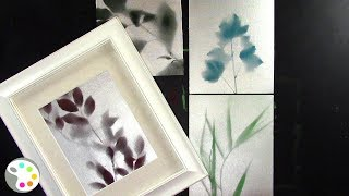 Spray Painting Leaves Silhouette on Canvas-- Wall Art Tutorial
