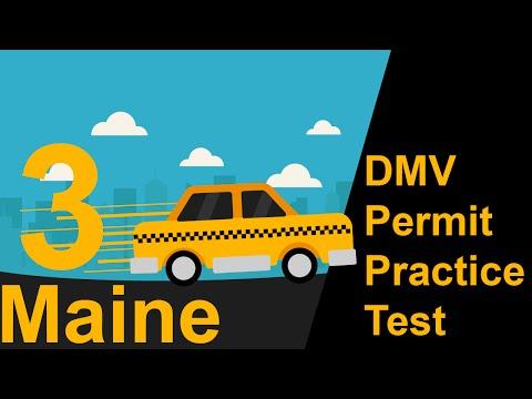 Maine DMV Permit Practice Test 3 -  2018