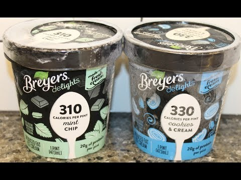 Breyers Delights: Mint Chip and Cookies & Cream Low Fat Ice Cream Review