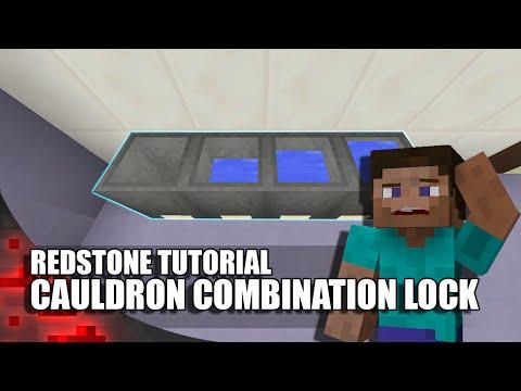 Minecraft: Cauldron Combination Lock!