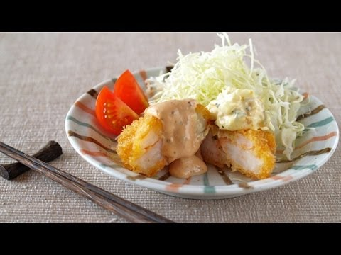 How to Make Ebi Katsu (Prawn/Shrimp Cutlet) Recipe プリプリえびカツの作り方 (レシピ)