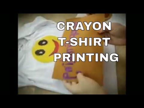 DIY CRAYON T-SHIRT PRINTING - Super Easy & Fun