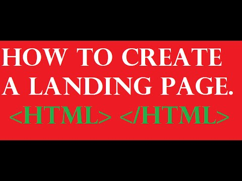How to create a Landing page(html)