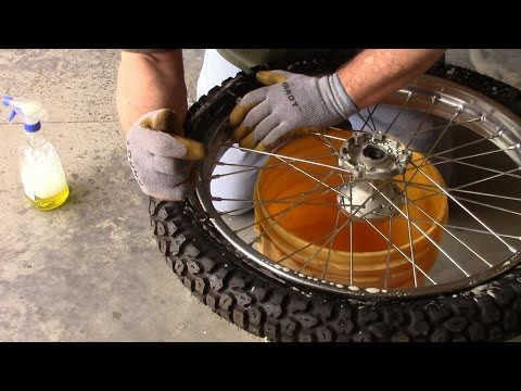 Changing a Motorcycle Tire and Tube