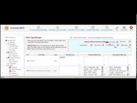 Joomla Tag Meta Manager - Add Title Tag Joomla - Joomla Add Meta Tag