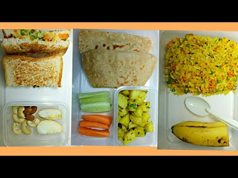 3 Healthy Tiffin Box Recipes For Kids In Hindi | Kids Tiffin Recipes | Kids Tiffin Box Recipes
