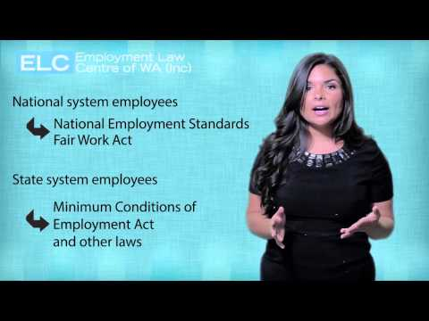Employment Law in WA: 5. Minimum conditions under the law
