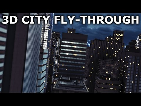 City Fly-Through with After Effects and Element 3D - Space To Earth 4/5