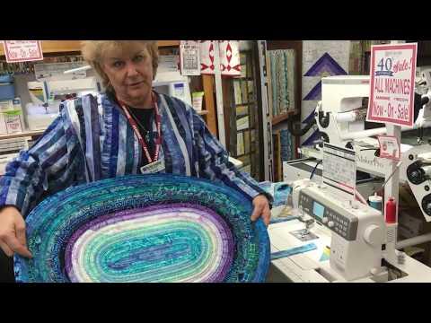 Fabric Garden Jelly Roll Rug Demo