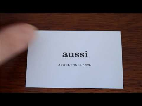 Learn French with Vincent # Flashcards on my table # Part 14