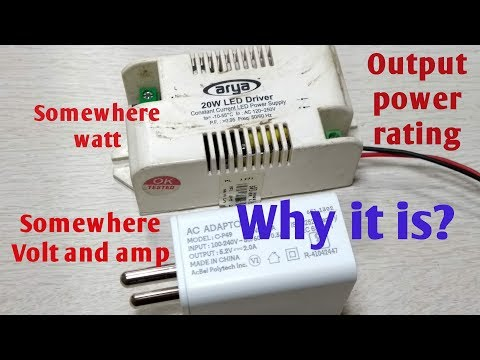 why it is, Output power rating somewhere volt / Watt