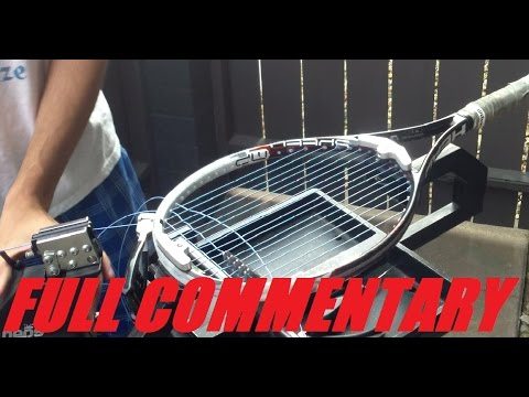 HOW TO STRING A TENNIS RACQUET WITH COMMENTARY!!