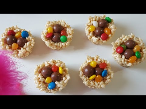 Easter Rice Krispies Nest | Easter Treats| How to make Bird's Nest Rice Krispies treat
