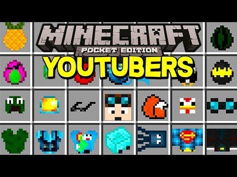 Minecraft YOUTUBERS MOD! | DANTDM, NEW YOUTUBERS, & MORE! | (Minecraft PE MODS)