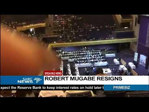 Mugabe's resignation letter by speaker Jacob Mudenda
