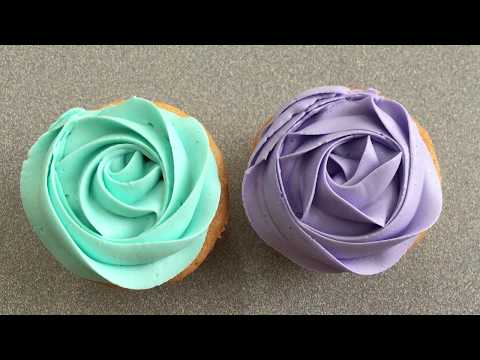 How To Pipe A Rose Swirl On A Cupcake