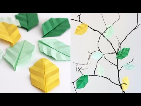 How To Make Paper Leaves With Veins!!