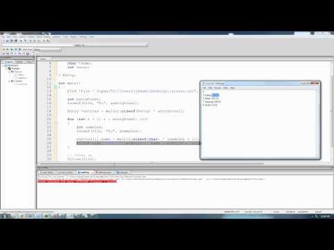 C Programming Tutorial 69, Reading From Files pt.2