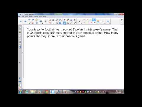 sec2 5 Pre Algebra Solving Equations by Adding and Subtracting