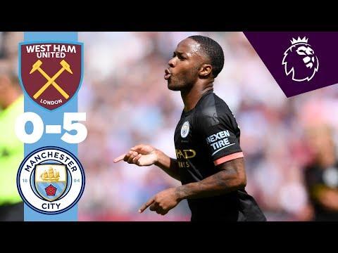 HIGHLIGHTS   West Ham 0-5 Man City   Sterling Hatrick, Gabriel Jesus, Sergio Aguero