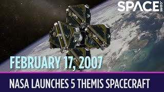 OTD in Space – February 17: NASA Launches 5 THEMIS Aurora-Hunting Spacecraft