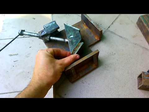 Homemade angle clamp