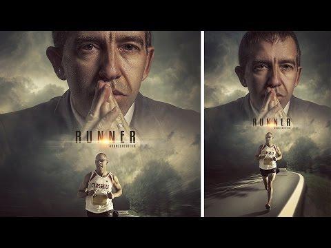 Photoshop Tutorial | Movie Poster | Manipulation Photo Effects Runner