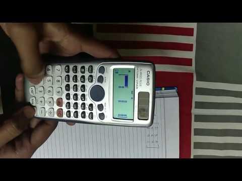 How to determine determinant of a 3×3 matrix using CASIO fx 991es plus  calculator.
