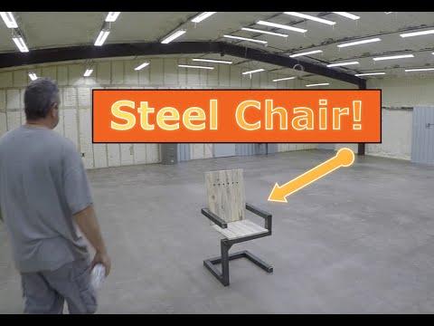 Custom Furniture - Continous Tube Chair - Steel+Wood - Vintage Industrial - Dallas, TX 75201