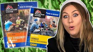 Irish People Try American Camping MREs