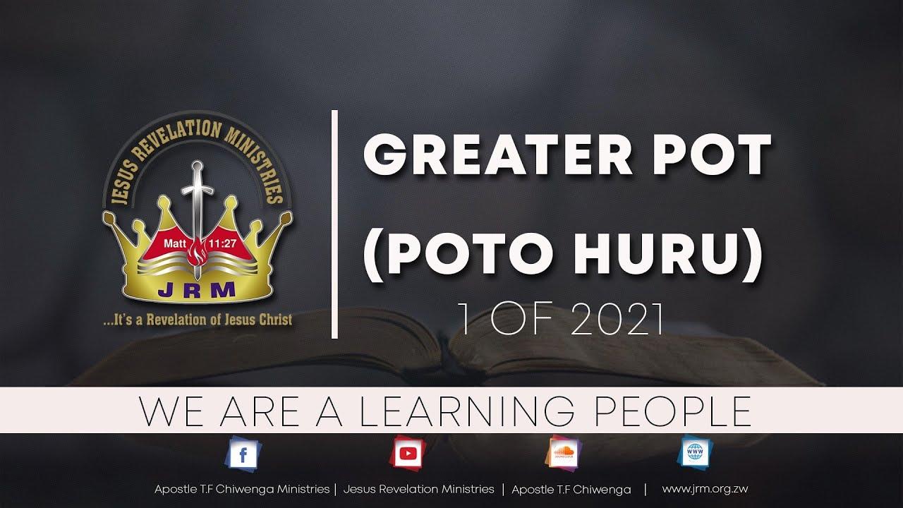 Sunday Service 28 February 2021 Apostle T.F Chiwenga (Greater Pot) Poto Huru 1 of 2021 PART A