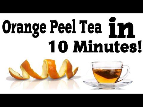 How To Make Homemade Orange Peel Tea Easily