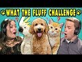 ADULTS REACT TO WHAT THE FLUFF CHALLENGE Confusing Your Pets Challenge